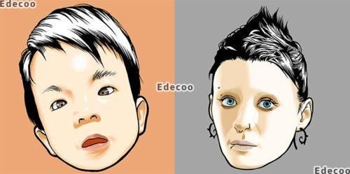 Edecooのアイコン似顔絵サービス