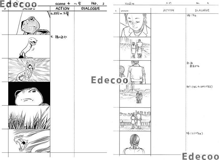 Edecooの制作物:絵コンテ1