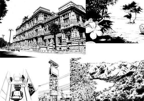 漫画の背景サンプル