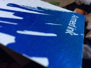 名刺をレザック66・雪で印刷
